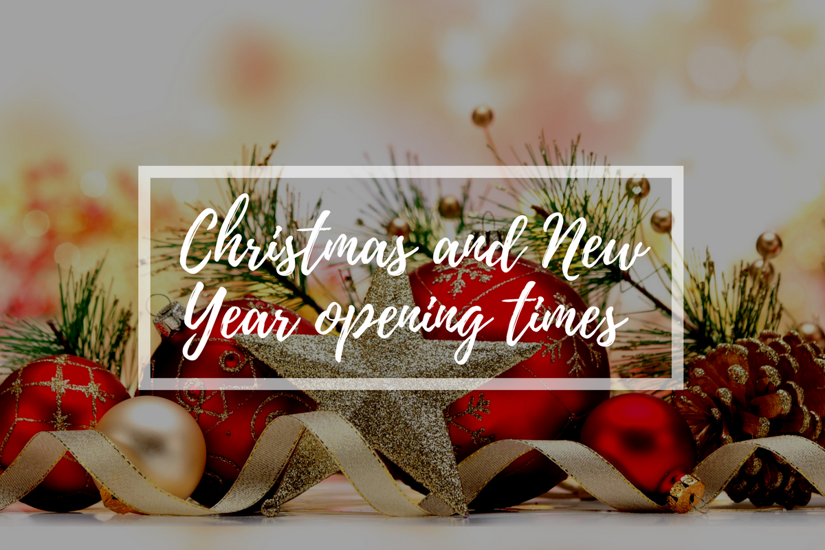 Christmas & New Year Opening Times and Delivery Information