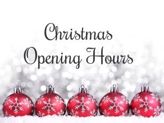 Christmas Opening Times and Delivery Information