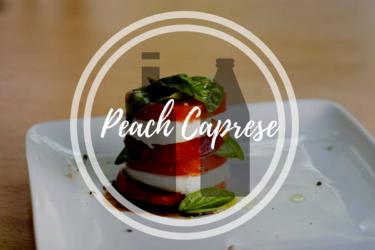 Delicious Peach Caprese in a Jar