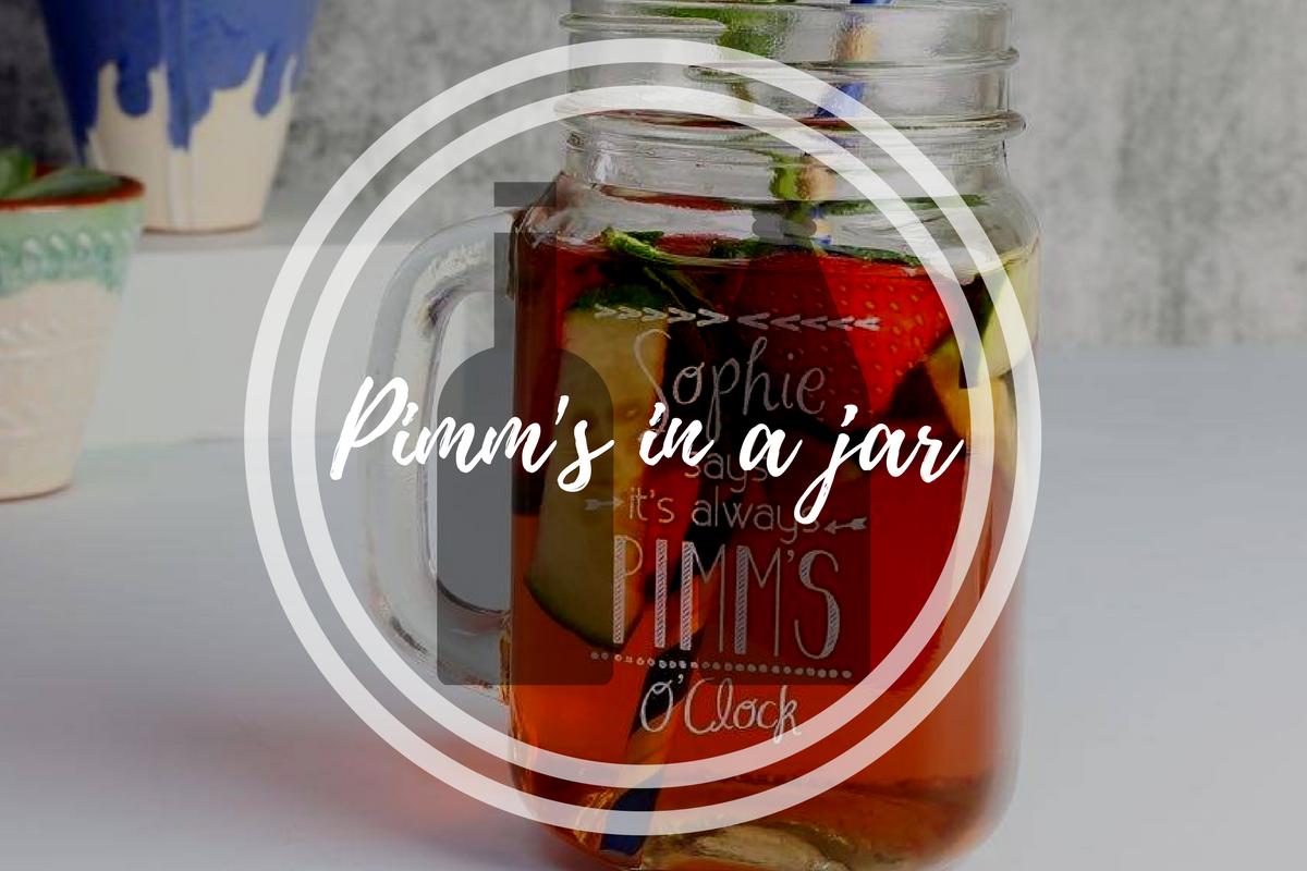 Pimm's in a jar