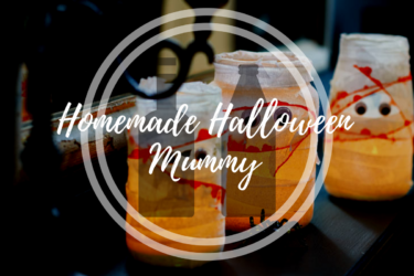 Homemade Halloween Mummy