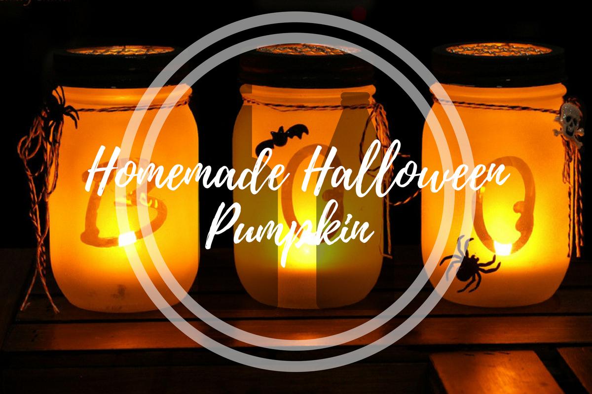 Homemade Halloween Pumpkin Decoration